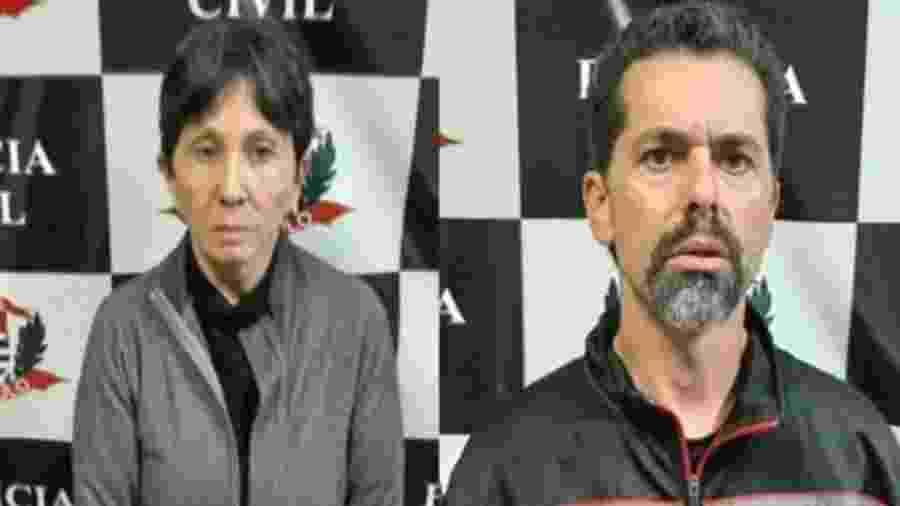 Écio Pilli Júnior e Marina Okido foram presos acusados de manter uma mulher em cativeiro durante ao menos 20 anos - Divulgação/Polícia Civil