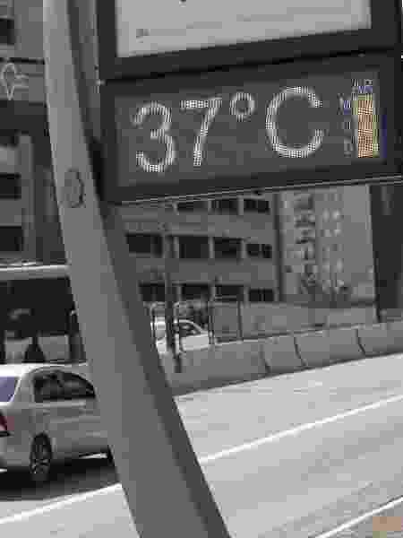 Termômetro registrou temperatura de 37ºC em São Paulo (SP), no dia 10 de setembro - RENATO S. CERQUEIRA/ESTADÃO CONTEÚDO