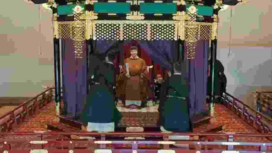 Imperador japonês Naruhito foi oficialmente entronado em cerimônia nesta terça-feira - Reprodução