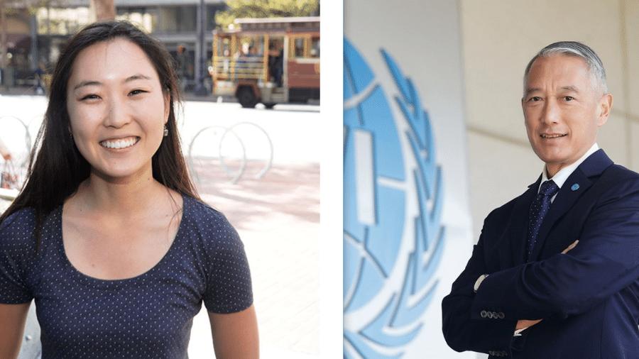 Kate Park, gerente da Tesla, e Jerome Kim, diretor-geral do Instituto Internacional de Vacinas, palestram no Innovalab - Divulgação
