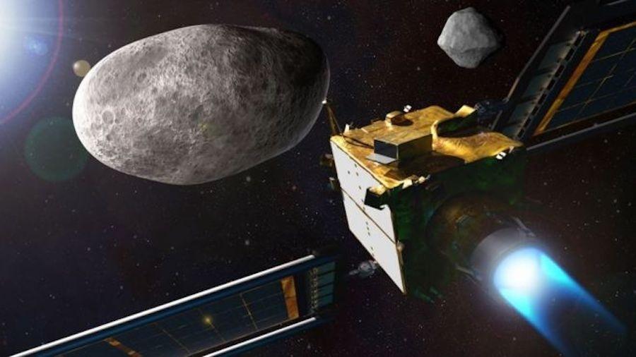A nave Dart tem a missão de se chocar contra o asteroide Dimorphos e provocar mudanças em sua rota - NASA/JOHNS HOPKINS APL