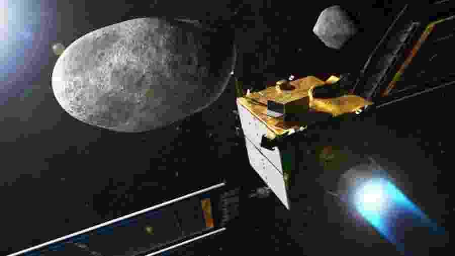 A nave DART tem a missão de se chocar contra o asteroide Dimorphos - NASA/JOHNS HOPKINS APL