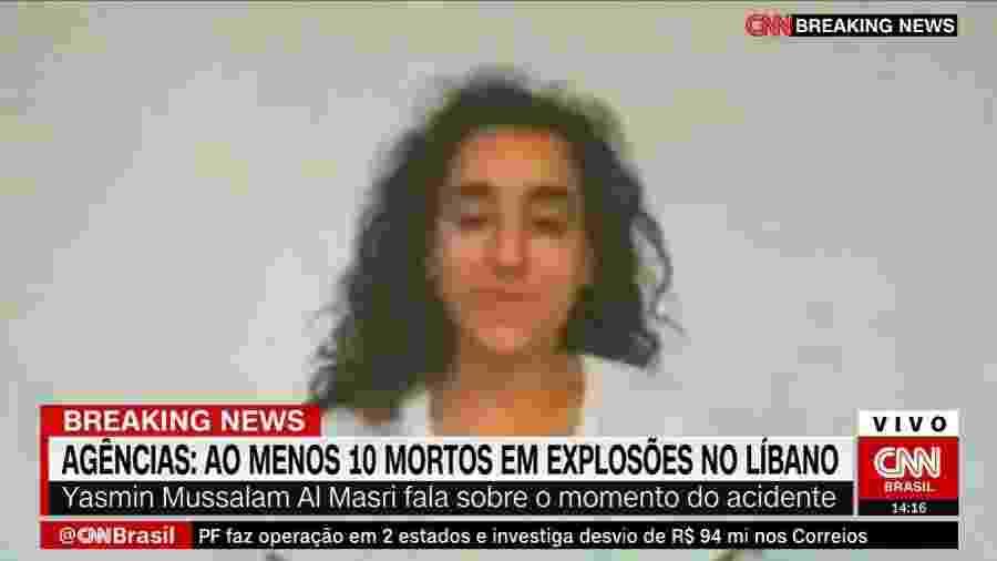 A libanesa Yasmin Mussalam Al Masri estava a 10 minutos de distância do epicentro da explosão - Reprodução/CNN
