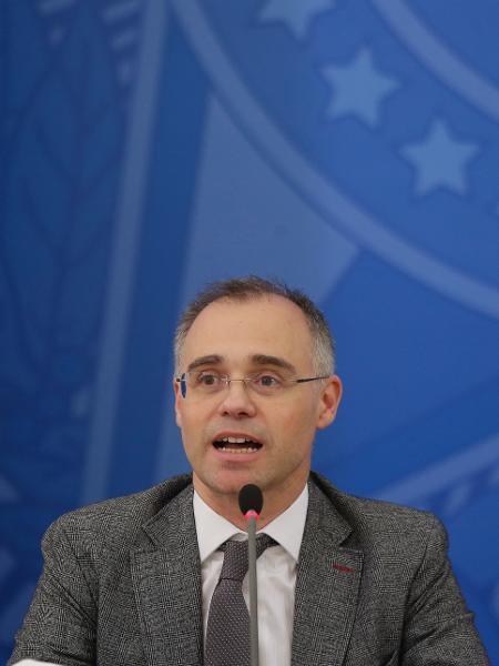 O ministro da Justiça e Segurança Pública, André Mendonça durante coletiva de imprensa no Palácio do Planalto - Dida Sampaio / Estadão Conteúdo