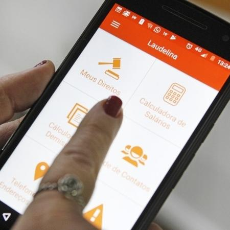 App Laudelina, que traz informações para domésticas - Divulgação