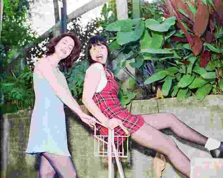 Baby do Brasil (à época, conhecida como Baby Consuelo) e sua filha Sarah Sheeva, no Estúdio Verde, em Laranjeiras, Rio de Janeiro, em 1995 - Alcyr Cavalcanti/Folhapress - Alcyr Cavalcanti/Folhapress