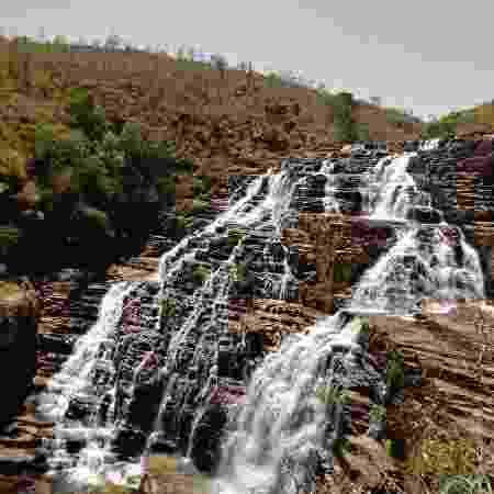 Cachoeira na Chapada dos Veadeiros. em Goiás - Reprodução/Redes sociais - Reprodução/Redes sociais
