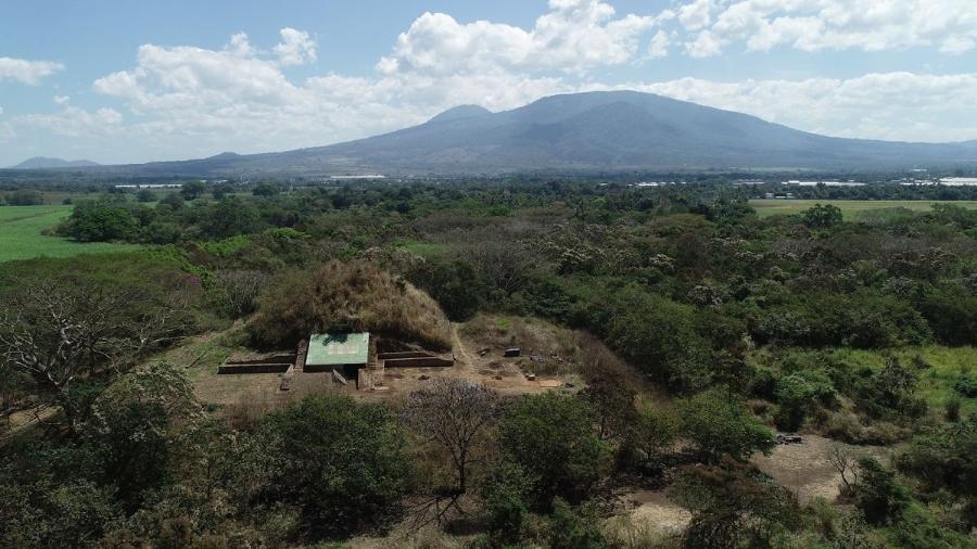 Pirâmide maia na região de El Salvador - Reprodução / Copyright Antiquity Publications Ltd / Akira Ichikawa