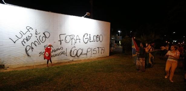 Imprensa é hostilizada por militantes; grupo protesta contra Globo - Pedro Ladeira/Folhapress