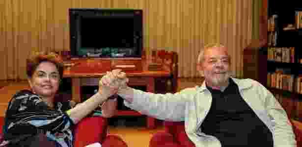 Os ex-presidentes petistas Dilma Rousseff e Luiz Inácio Lula da Silva - Reprodução/Facebook - Reprodução/Facebook