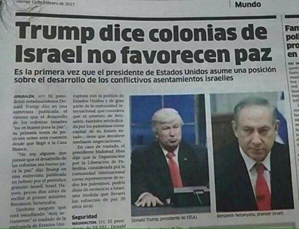 Jornal da República Dominicana usa foto de Alec Baldwin como Donald Trump em matéria sobre o presidente dos EUA