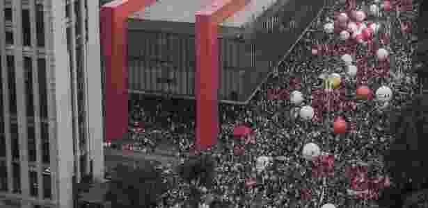 Manifestantes protestam na Av. Paulista contra reforma da Previdência proposta pelo governo Temer, em 15 de março de 2017 - Avener Prado/Folhapress