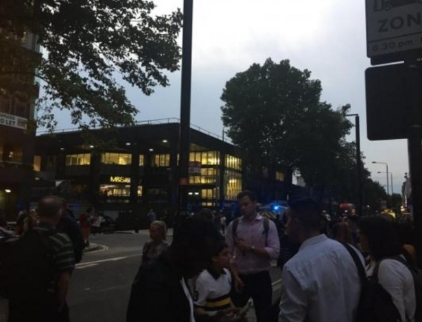 Passageiros não tiveram acesso à estação Euston após incidente em Londres - Reprodução/Twitter