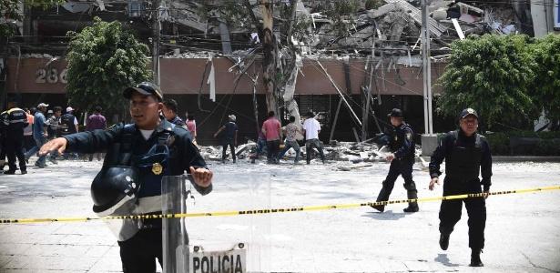Lucía Zamora ficou mais de um dia presa nos escombros deste edifício de seis andares, no bairro de Roma, na Cidade do México