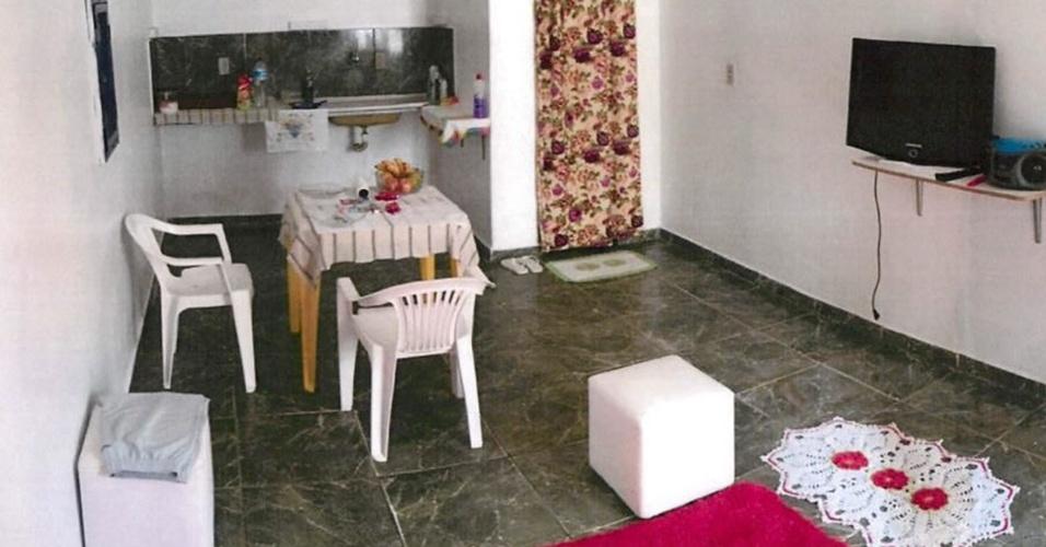 12.jan.2018 -- Área usada como motel no presídio de Anápolis (GO)