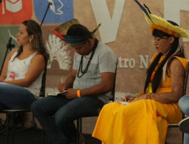 Mesa de debate no 5º Encontro Nacional dos Estudantes Indígenas, em Salvador