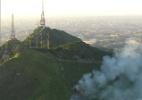 Incêndio atinge a região do Pico do Jaraguá (Foto: Reprodução/TV Globo)