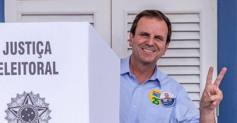 Eduardo Paes vota no Rio de Janeiro