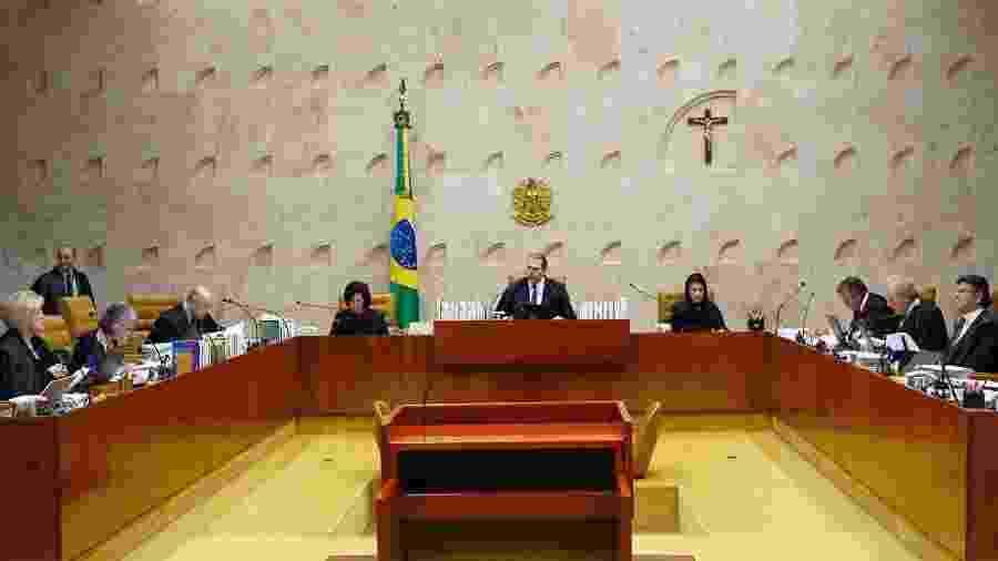 Ministros durante julgamento no plenário do STF - Rosinei Coutinho/Divulgação/STF