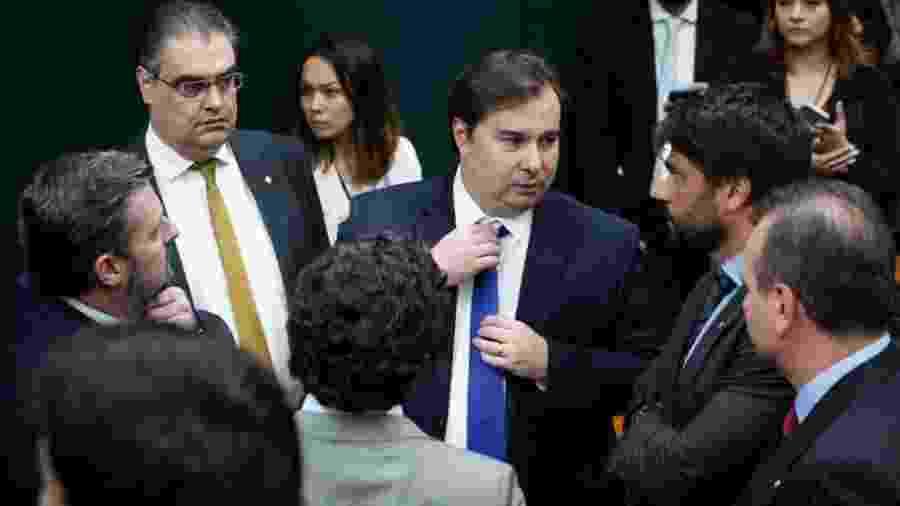 O presidente da Câmara, Rodrigo Maia, na comissão especial da reforma da Previdência - Pablo Valadares/Câmara dos Deputados