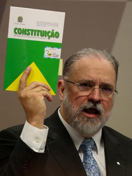 Augusto Aras durante sessão da CCJ em que foi sabatinado - Pedro Ladeira/Folhapress