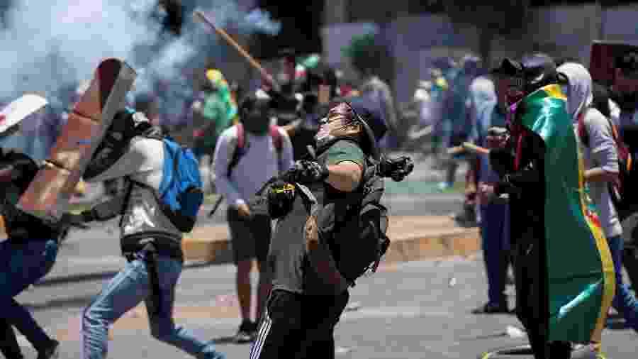 Segundo a Defensoria do Povo Boliviano, pelo menos oito profissionais foram feridos desde as eleições de 20 de outubro - Danilo Balderrama/Reuters