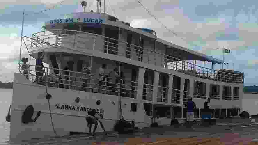 Navio Anna Karoline III, que naufragou no sul do Amapá - Reprodução