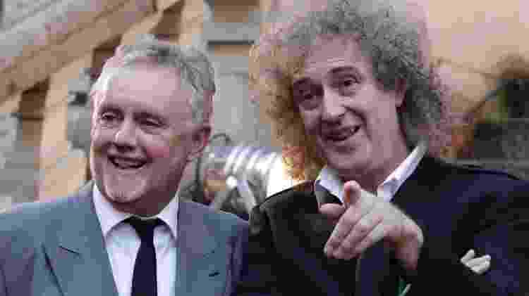 Roger Taylor (à esq.) com Brian May, outro companheiro de Queen - Tobias Schwarz - Tobias Schwarz