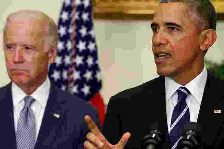 Joe Biden e Barack Obama na Casa Branca em novembro de 2015 - Reprodução - Reprodução