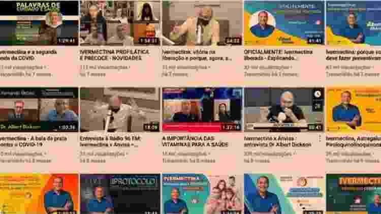 YouTube removeu 12 vídeos do canal de Dickson por conteúdo que disseminava informações médicas incorretas - Reprodução/YouTube - Reprodução/YouTube