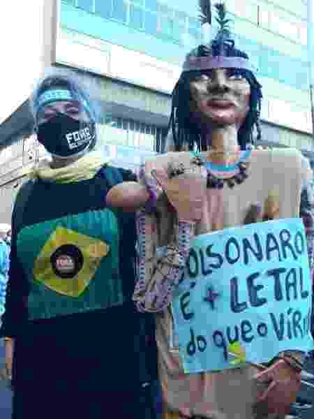 Mensagens nos protestos contra Bolsonaro - Hygino Vasconcellos/Colaboração para o UOL - Hygino Vasconcellos/Colaboração para o UOL