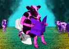 Já para o banheiro! Como seria se vacas e bois aprendessem a usar privadas? (Foto: Arte UOL)