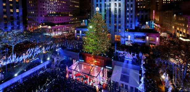 A árvore de Natal do Rockefeller Center, em Nova York, é uma tradição há 84 anos - Li Muzi/Xinhua