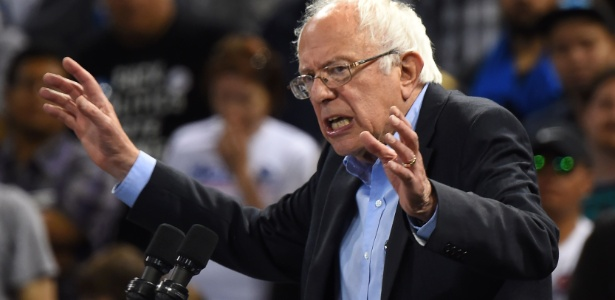 O senador Bernie Sanders foi o principal rival da candidata Hillary Clinton nas prévias do Partido Democrata dos Estados Unidos
