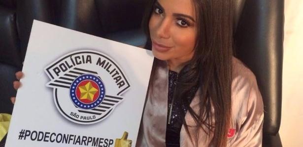 Anitta é uma das celebridades usadas pela PM de SP em campanha