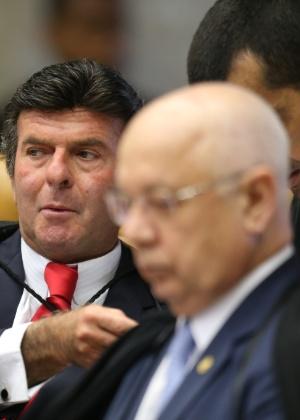 O ministro Luiz Fux no plenário do STF