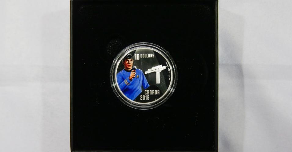 O Canadá lançou em 2016 uma série de moedas comemorativas aos 50 anos de Star Trek (Jornada nas Estrelas). A moeda com a estampa do personagem Spock é feita em prata e tem valor de face de 10 dólares, mas é vendida a R$ 460