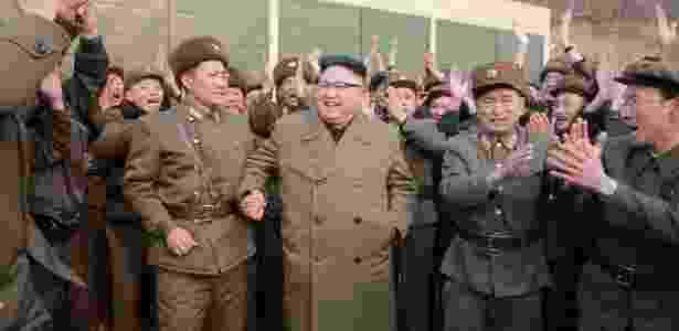 Líder norte-coreano Kim Jong-Un comemora teste militar - KCNA/Reuters - KCNA/Reuters