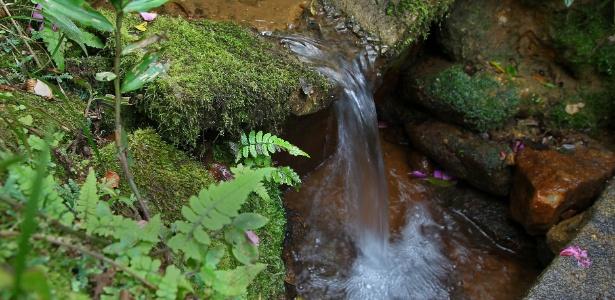 Primeira queda d'água do rio Tietê, 10 metros abaixo da sua nascente, em Salesópolis (SP)