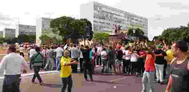 Pré-votação é marcada por protestos em frente ao Congresso Nacional - Walterson Rosa/Estadão Conteúdo