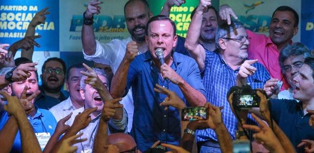 Doria comemora vitória em prévias do PSDB em São Paulo