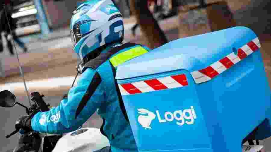 Motoboy da startup de logística Loggi, que recebeu investimento que elevou seu valor de mercado à casa do US$ 1 bilhão. - Divulgação