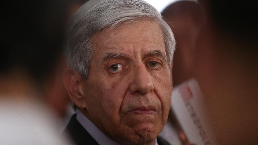 30.abr.2019 - O general Augusto Heleno, ministro-chefe do GSI - Pedro Ladeira/Folhapress