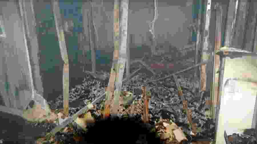 14.set.2019 - Fotos após incêndio no Hospital Badim mostram rastro de destruição provocado pelo fogo - TV Globo/Reprodução