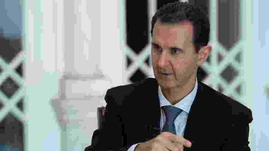 31.out.2019 - O presidente da Síria, Bashar al-Assad durante entrevista em Damasco - Sana/AFP