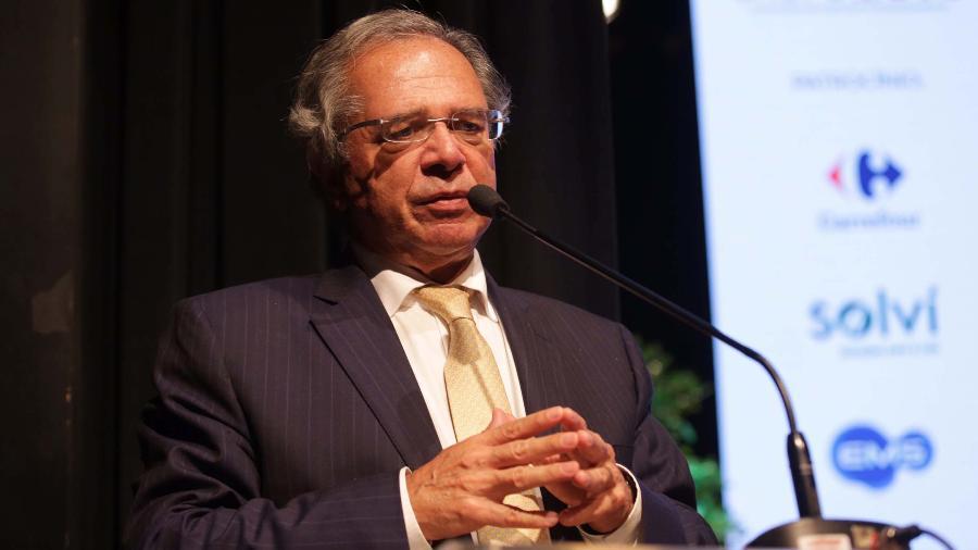 """""""O modelo não é juros na lua e câmbio baixo, desindustrializando o Brasil"""", acrescentou o ministro da Economia - Wallace Martins/Futura press/Estadão Conteúdo"""