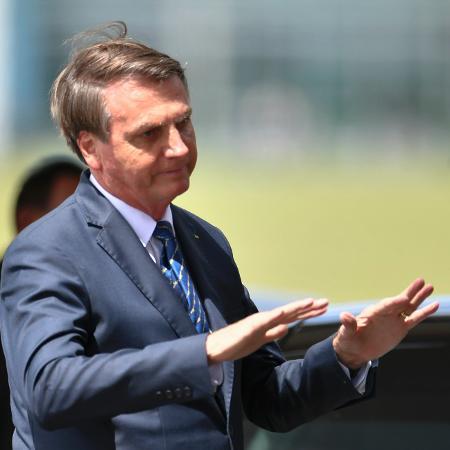 13.mar.2020 - O presidente Jair Bolsonaro - Mateus Bonomi/AGIF/Estadão Conteúdo