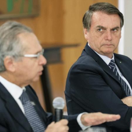 O ministro da Economia Paulo Guedes e o presidente Jair Bolsonaro  - Marcos Corrêa/PR/Flickr