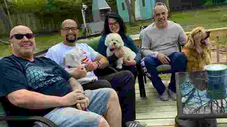 Da esquerda para direita: Roberto Demello, Paulo Freitas, Mara Brasil Giacobbe e John Giacobbe em Nova Jersey - Arquivo pessoal - Arquivo pessoal