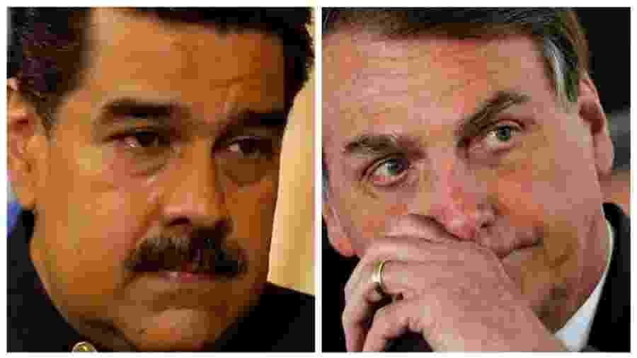 Bolsonaro e Maduro governam cercados de ministros egressos das Forças Armadas e defendem publicamente eficácia do medicamento, mas discordam quanto a medidas de isolamento social. - BBC